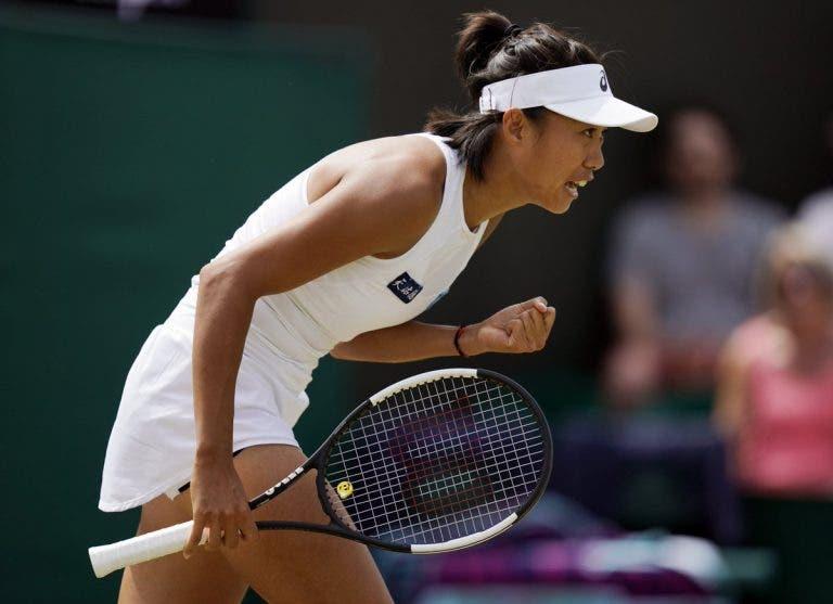 Wozniacki perde com Zhang na terceira ronda de Wimbledon