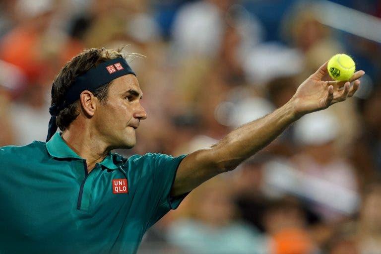 Federer admite: «Courts em Cincinnati estão muito rápidos»
