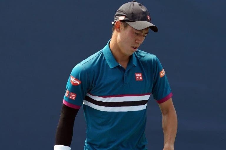 Kei Nishikori, maior figura (ATP) do ténis asiático, falha Tóquio e Xangai