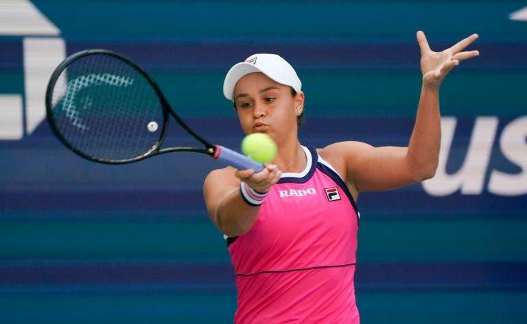 Ashleigh Barty garante presença na 3.ª ronda do US Open