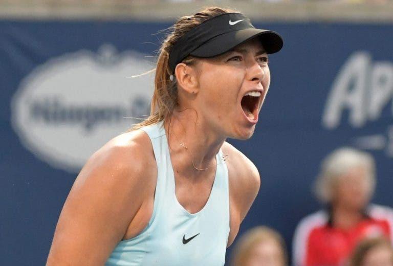 Sharapova regressa aos courts com vitória em Abu Dhabi