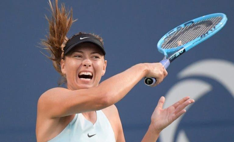 Sharapova eliminada na estreia em Toronto após enorme batalha frente a cabeça-de-série