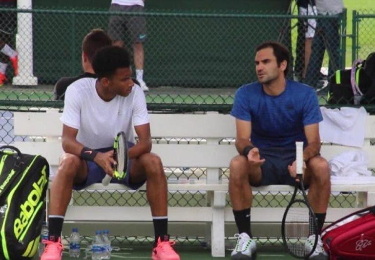 Auger Aliassime: «Federer é como uma divindade»