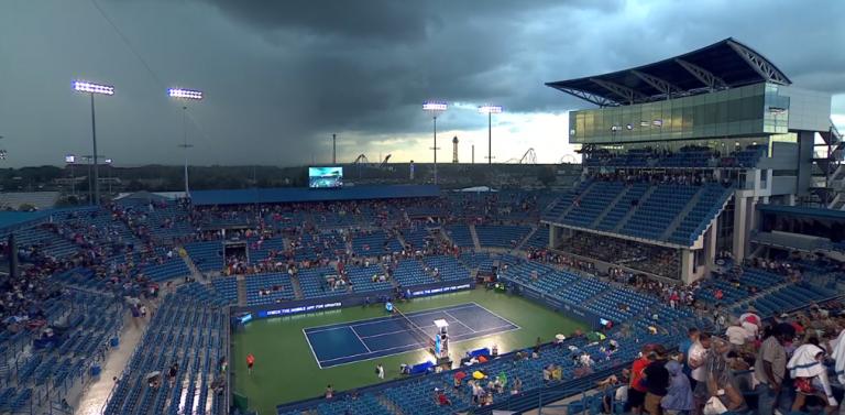 Chuva volta a fazer das suas e suspende jogo de estreia de Federer em Cincinnati