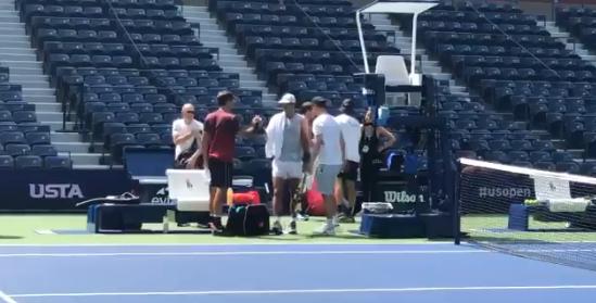 [VÍDEO] Nadal também já treina em Nova Ioque e até se cruzou com Federer