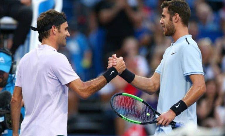 Khachanov: «Federer é um músico que toca qualquer coisa quando segura numa raquete»