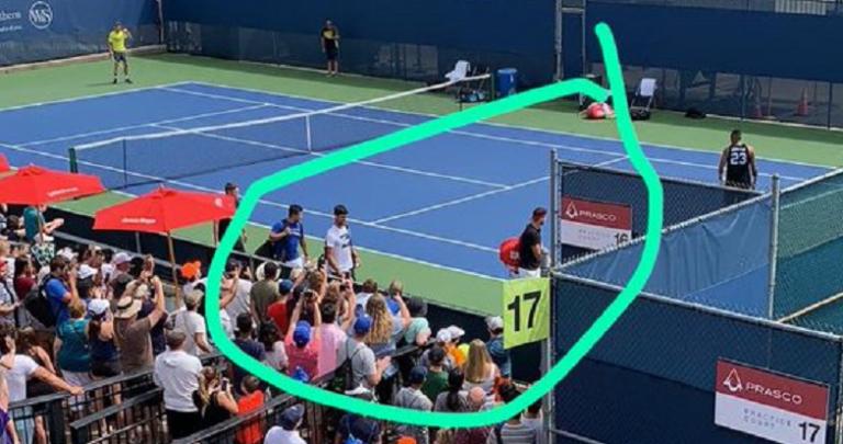 Depois de treinar com Federer, Dimitrov partilhou court com Djokovic