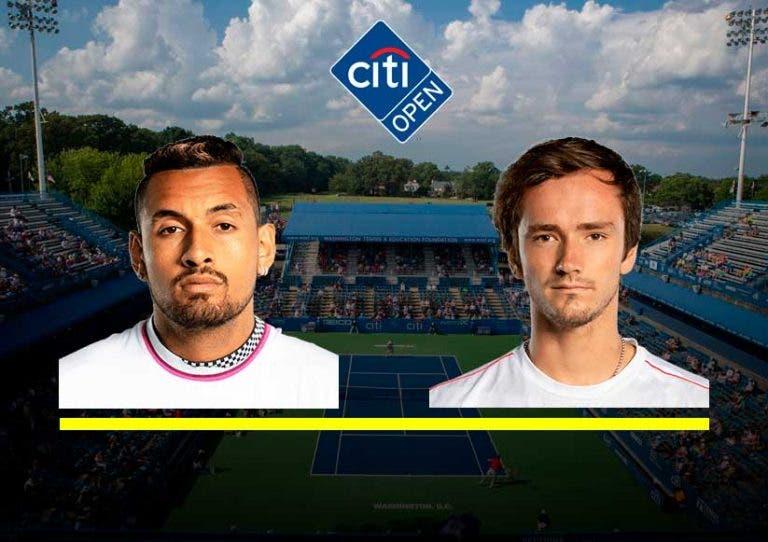 Citi Open 2019: siga Nick Kyrgios vs Daniil Medvedev no nosso Live Center