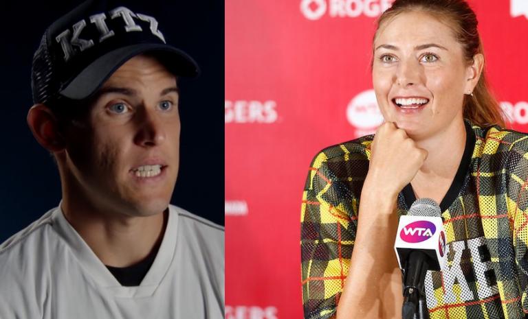 O que une Sharapova e Thiem? Uma lata de Pringles