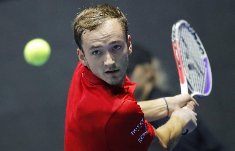 Exausto, Medvedev não vai às Davis Cup Finals em Madrid