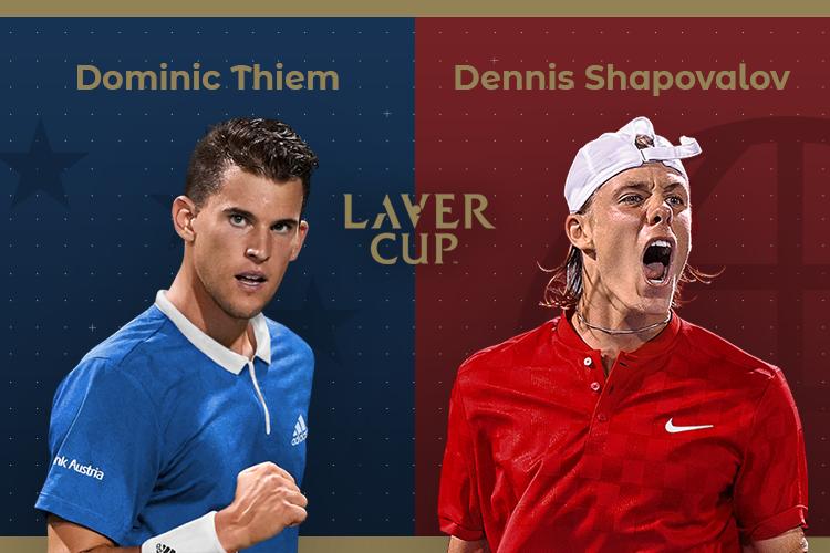 Laver Cup 2019: siga Dominic Thiem vs Denis Shapovalov no nosso live center