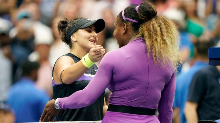 Andreescu confessa: «Senti-me intimidada pela aura da Serena»