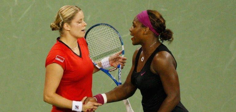 Serena Williams elogia Clijsters: «Tu és uma inspiração para mim»