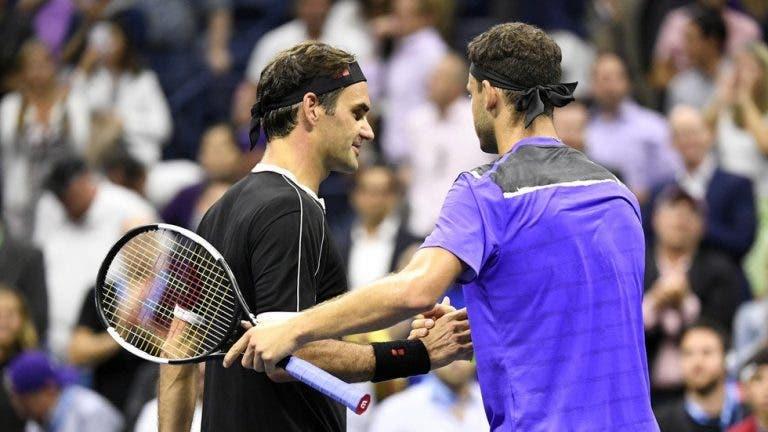 Dimitrov elogia Federer: «Não há palavras para descrever o que é para o ténis, tento sempre aprender com ele»