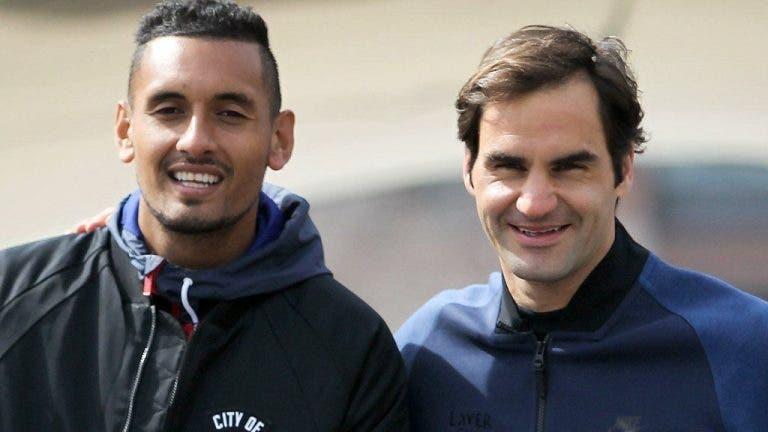 Kyrgios fala do Big Three e não tem dúvidas: «Federer é um tenista perfeito e um exemplo a seguir»