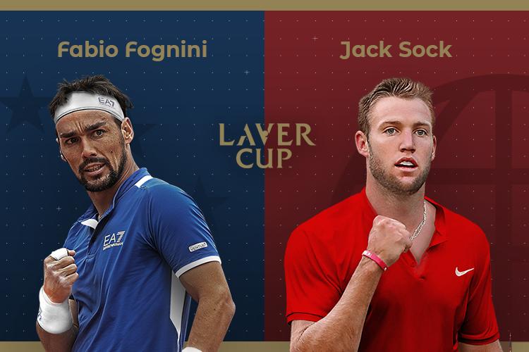 Laver Cup 2019: siga Fabio Fognini vs Jack Sock no nosso live center