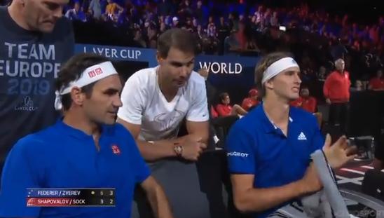 [VÍDEO] Nadal veste a pele de treinador e dá conselhos… a Federer