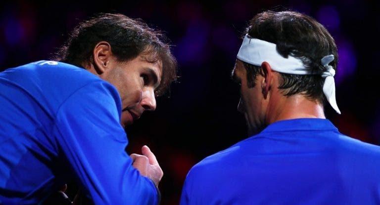 Federer agradece ajuda de Nadal: «O Rafa salvou-me, aprendo muito com ele»