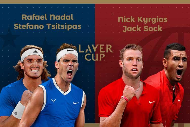 Laver Cup 2019: siga o Nadal/Tsitsipas vs Kyrgios/Sock no nosso live center