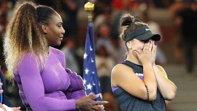 Serena elogia Andreescu e brinca: «Se não sou eu ou a Venus a vencer, fico feliz que seja a Bianca»