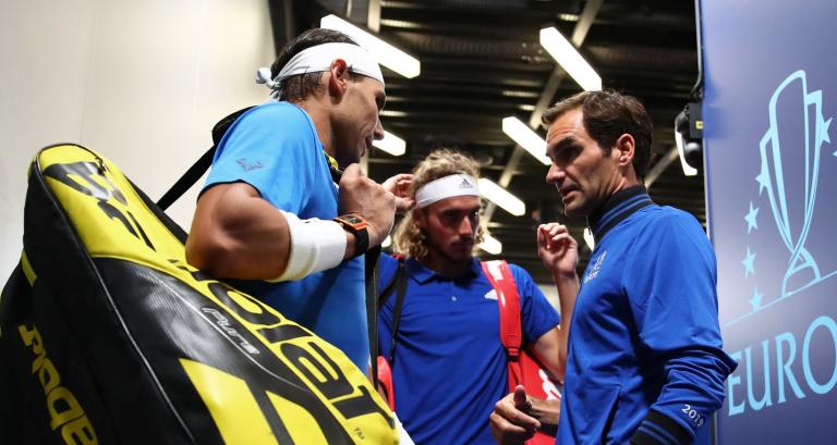 Qual o melhor parceiro de pares, Federer ou Nadal? Tsitsipas pensou, tremeu e… lá decidiu