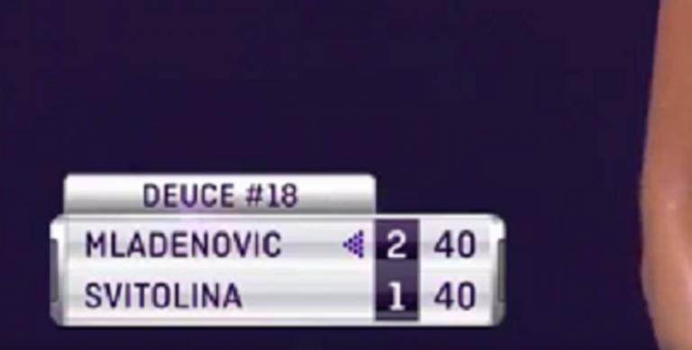 Mladenovic e Svitolina disputaram jogo de serviço com 18 (!) deuces