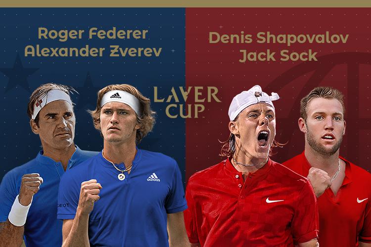 Laver Cup 2019: siga o Federer/Zverev vs Sock/Shapovalov no nosso live center
