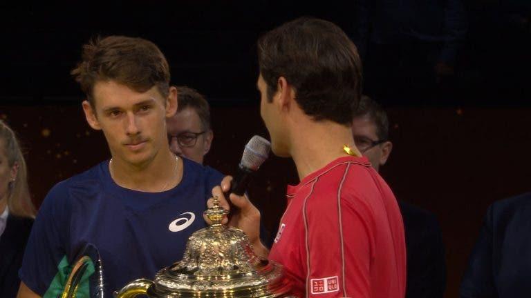 De Minaur: «Tentei tudo, mas Federer é de outro planeta»