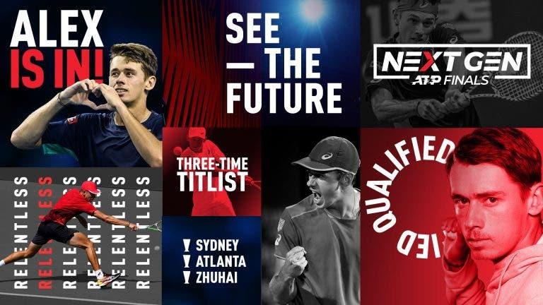 De Minaur é o terceiro tenista apurado para as NextGen Finals