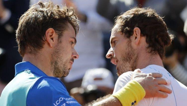 Roland Garros: Murray vs Wawrinka é já… este domingo