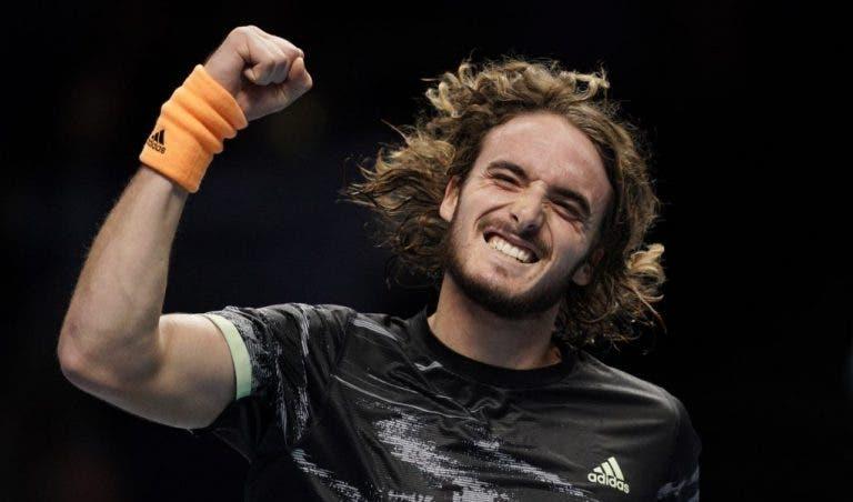 Tsitsipas derrota Federer rumo à maior final da sua carreira em Londres