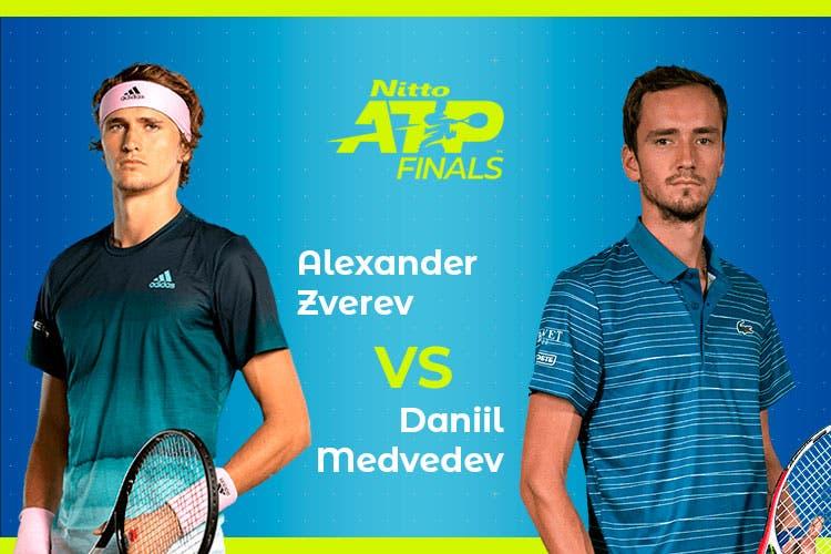 ATP Finals: Siga Alexander Zverev vs Daniil Medvedev no nosso live center