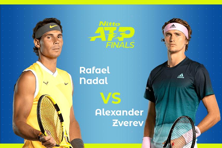 ATP Finals: Siga Rafael Nadal vs Alexander Zverev no nosso live center