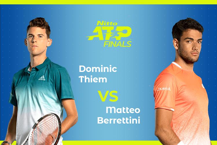 ATP Finals: Siga Dominic Thiem vs Matteo Berrettini no nosso live center