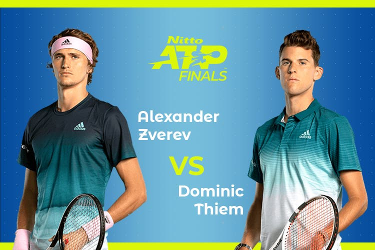 ATP Finals: Siga Alexander Zverev vs Dominic Thiem no nosso live center