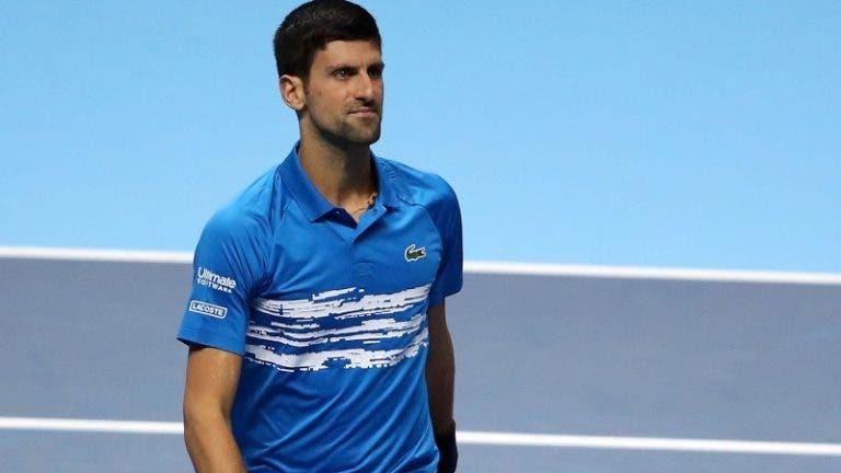 Djokovic é o top 10 que defende menos pontos nos dois próximos meses