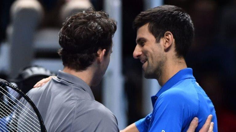 Djokovic e a exibição de Thiem em Londres: «Nunca vi nada assim»
