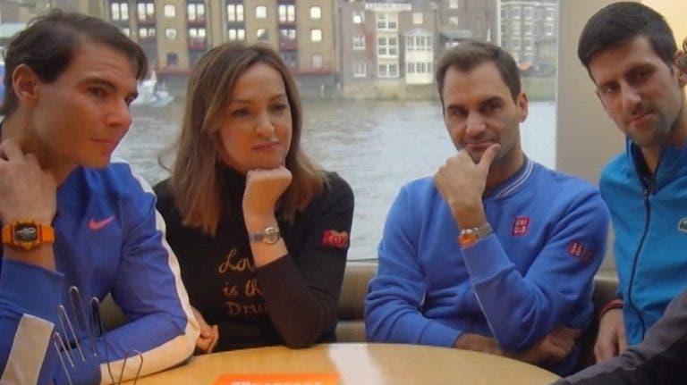 Djokovic, Nadal e Federer têm um grupo de WhatsApp para os três