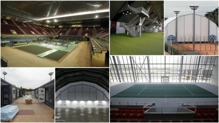 As primeiras imagens da transformação da Caja Magica para as Davis Cup Finals
