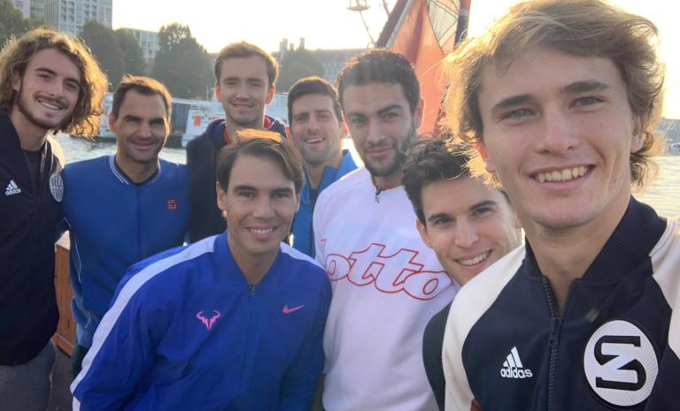A (ensonada) selfie dos melhores tenistas do Mundo