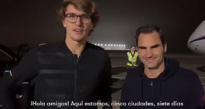[VÍDEO] Davis Cup? Nada disso. Federer e Zverev rumam à América Latina