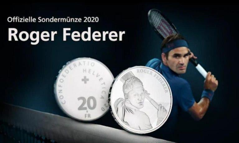 Esgotada pré-venda de moedas suíças com imagem de Federer