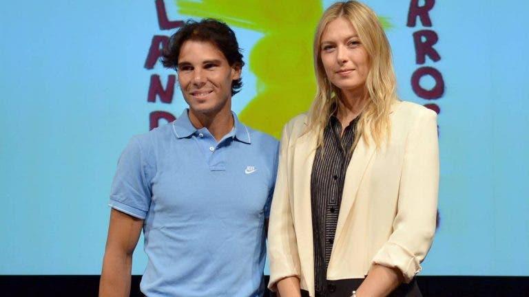Sharapova rendida a Nadal: «Estou impressionada com toda a sua carreira»