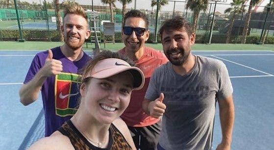 Marcos Baghdatis anuncia que vai treinar Elina Svitolina