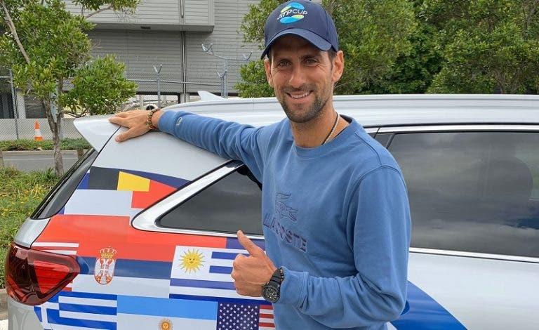 Novak Djokovic também já chegou à Austrália para a ATP Cup