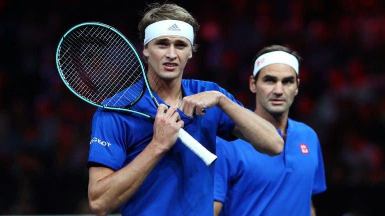 Federer não confirma ter deixado de 'agenciar' Zverev por causa das acusações de violência