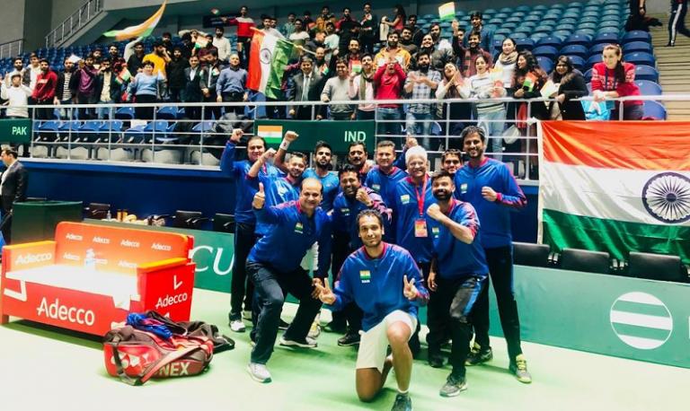 Índia bate Paquistão em campo neutro rumo à qualificação para as Davis Cup Finals de 2020