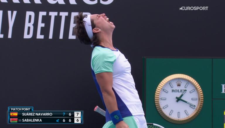 Em ano de final de carreira, Suarez Navarro joga muito e elimina Sabalenka do Australian Open