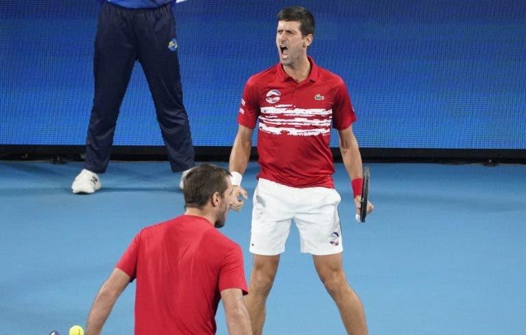 [VÍDEO] O momento em que Djokovic e Troicki deram à Sérvia a primeira ATP Cup da história