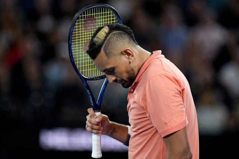 A horas de se estrear, Kyrgios anuncia desistência do ATP 250 de Delray Beach